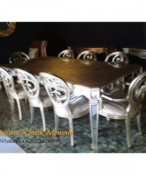 Mebel Klasik Jepara,Furniture Klasik,Meja Makan Set 8kursi