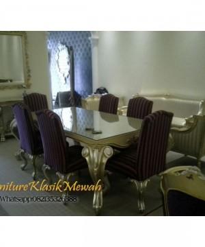 Mebel Klasik Jepara,Furniture Klasik,Meja Makan Set 6kursi