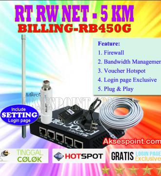Paket RT RW Net 5 Km Billing Mikrotik RB450G
