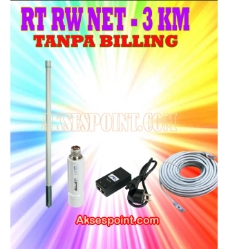Paket RT RW Net 3 Km Tanpa Billing Mikrotik