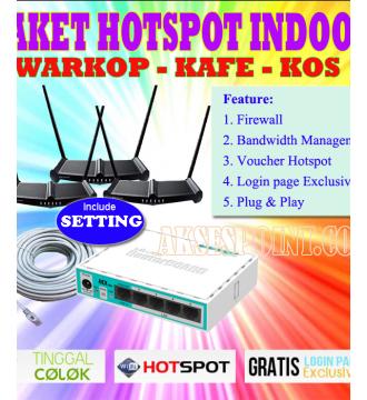 Paket Hotspot Indoor Alfa 3 untuk Warkop dan Cafe RB750r2 - Tp-Link TL-WR841