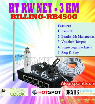 Paket RT RW Net 3 Km Billing Mikrotik RB450G