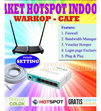 Paket Hotspot Indoor Alfa 1 untuk Warkop dan Cafe RB750r2 - Tp-Link TL-WR841HP
