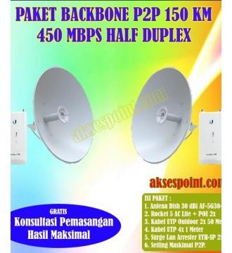 Paket Backbone Point to Point Rocket 5 AC Lite Half Duplex 150 Km 450 Mbps