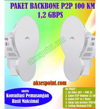 Paket Backbone Point to Point AirFiber AF5 Full Duplex 100 Km 1,2 Gbps