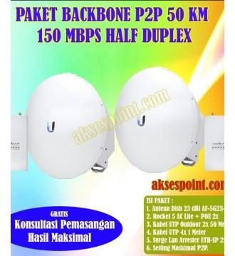 Paket Backbone Point to Point Rocket M5 Half Duplex 50 Km 150 Mbps
