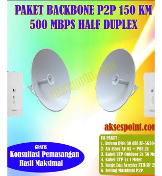Paket Backbone Point to Point AirFiber AF-5X Half Duplex 150 Km 500 Mbps