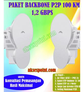 Paket Backbone Point to Point AirFiber AF5U Full Duplex 100 Km 1,2 Gbps
