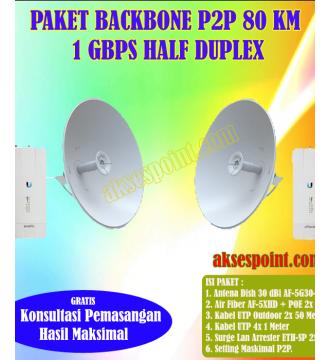 Paket Backbone Point to Point AirFiber AF-5XHD Half Duplex 80 Km 1 Gbps