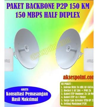 Paket Backbone Point to Point Rocket 5 AC Lite Half Duplex 100 Km 450 Mbps