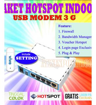 Mikrotik Billing dan Hotspot RB951Ui2HnD + Usb Modem 3G + Setting