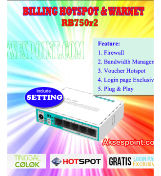 Billing Warnet Hotspot Rt Rw Net Mikrotik RB750r2
