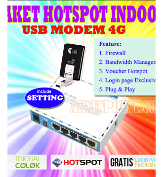Mikrotik Billing dan Hotspot RB951Ui2HnD + Usb Modem 4G + Setting