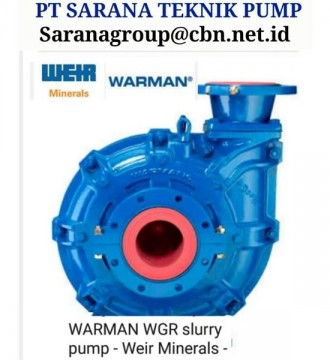 Jual PT SARANA TEKNIK PUMP WARMAN WEIR SLURRY PUMP FOR MINING
