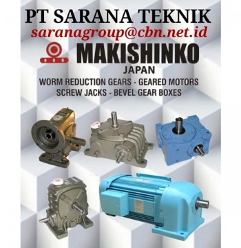 Jual MAKISHINKO WORM GEAR HELICAL GEARBOX BEVEL PT SARANA TEKNIK