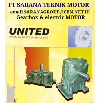 Jual PT SARANA TEKNIK Gearbox Motor GEAR REDUCER UNITED