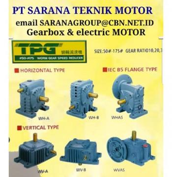 Jual Gearbox Motor TPG WORM GEAR REDUCER PT SARANA TEKNIK GEARMOTOR