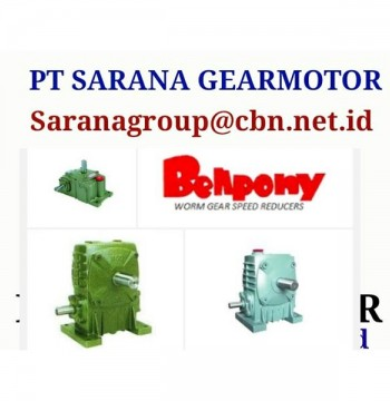 Jual WORM GEAR BELLPONY SPEED REDUCER TYPE PA PT SARANA GEAR MOTOR