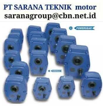 Jual POWERGEAR SHAFT MOUNTED SPEED GEAR REDUCER GEARBOX PT SARANA TEKNIK