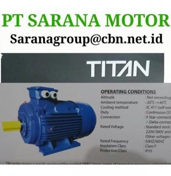 Jual PT SARANA TITAN MOTOR LECTRIC AC MOTOR FOOT MOUNTED