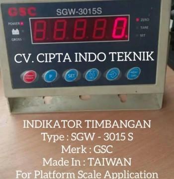 INDIKATOR  SGW - 3015 S MERK GSC - CV. CIPTA INDO TEKNIK