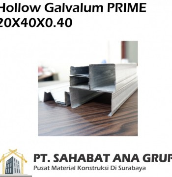Hollow Galvalum PRIME 20x40x0.40