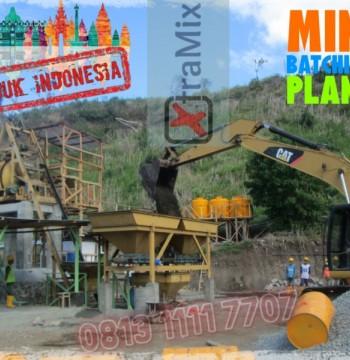 Jual Mini Batching Plant dengan Mesin Concrete Mixer merk XtramiX
