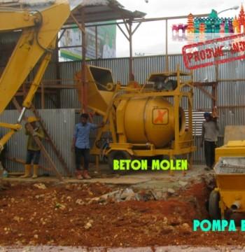 Jual Molen Beton Cor Concrete Mixer merk XtramiX kombinasi Concrete Pump