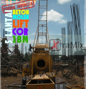 Jual Mesin Beton Molen Lift 5 Lantai 18m merk Xtramix BTC2100 Model Winget
