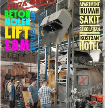 Jual Mesin Mixer Molen Beton Cor LIFT 18m Semen Cor Mixer Ready Mix merk Xtramix