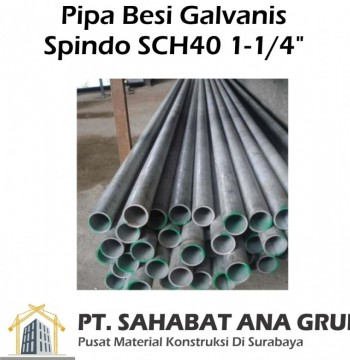 """Pipa Galvanis Spindo SCH40 1-1/4"""""""