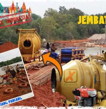Jual Molen Beton Molen Cor Concrete Mixer XtramiX project Jembatan