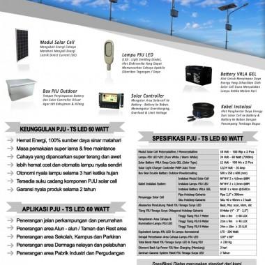paket PJU tenaga surya 60 watt LED Surya Panel Indonesia