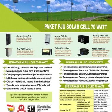 paket PJU solar cell 70 watt LED Surya Panel Indonesia
