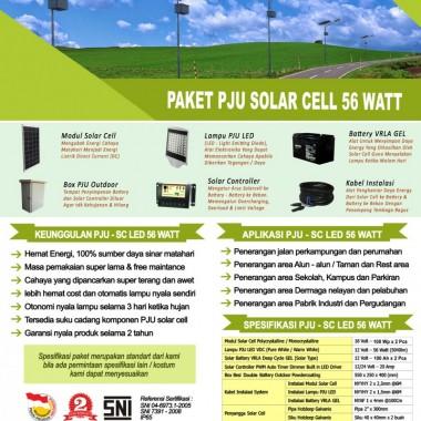 paket PJU solar cell 56 watt LED Surya Panel Indonesia