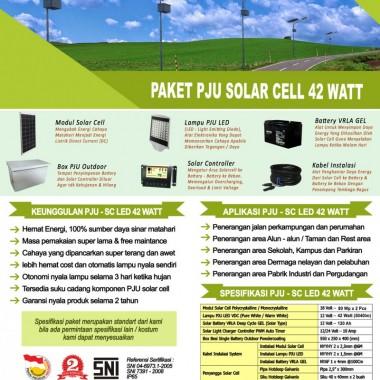 paket PJU solar cell 42 watt LED Surya Panel Indonesia