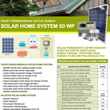 PAKET SOLAR HOME SYSTEM 50 WP Surya Panel Indonesia