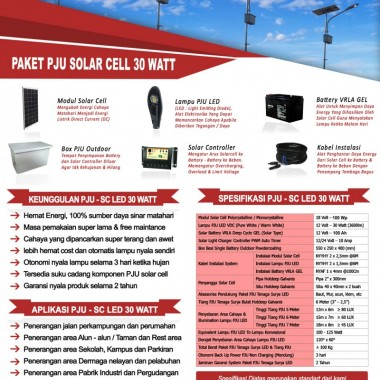 paket PJU solar cell 30 watt LED Surya Panel Indonesia