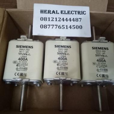 jual fuse siemens 3NA3260 400A 500V NH2 HERAL ELECTRIC