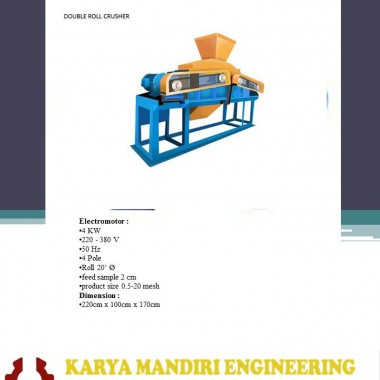 "Double Roll Crusher 20"" KARYA MANDIRI ENGINEERING"