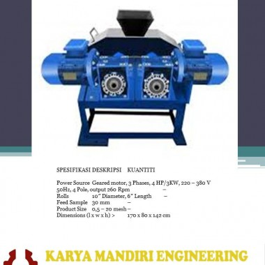 DOUBLE ROLL CRUSHER KARYA MANDIRI ENGINEERING