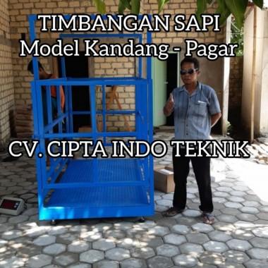 TIMBANGAN  HEWAN MODEL  KERANGKENG  -  CIPTA INDO TEKNIK