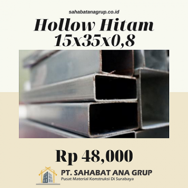Hollow Hitam 15x35x0.8