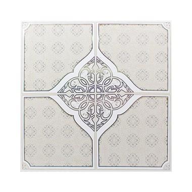 Shunda Plafon PVC - Ceramic Style - Ivory Four Spades - PL 2513