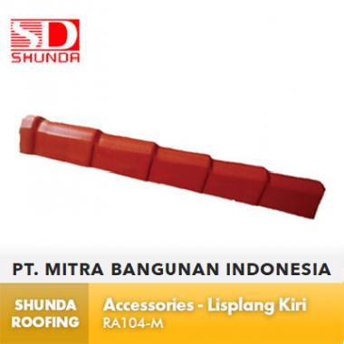 Shunda Roofing Atap UPVC - Accessories - Lisplang Kiri - RA104-M