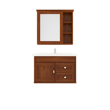 Shunda Cabinet PVC - Wall Mounted - Brown Alder - G80B-0201