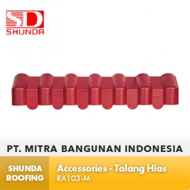 Shunda Roofing Atap UPVC - Accessories - Talang Hias - RA103-M