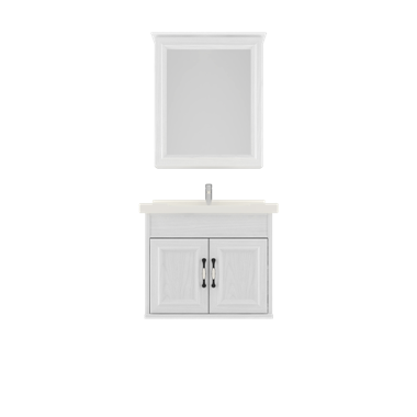 Shunda Cabinet PVC - Wall Mounted - White Woodgrain - G60A-0301