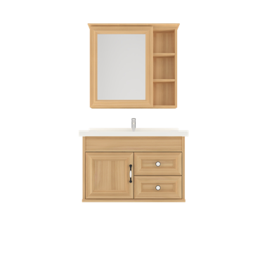 Shunda Cabinet PVC - Wall Mounted - Natural Maple - G80B-0101