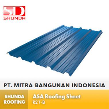 Shunda Roofing Atap UPVC - Blue ASA Roofing Sheet - RA21-B